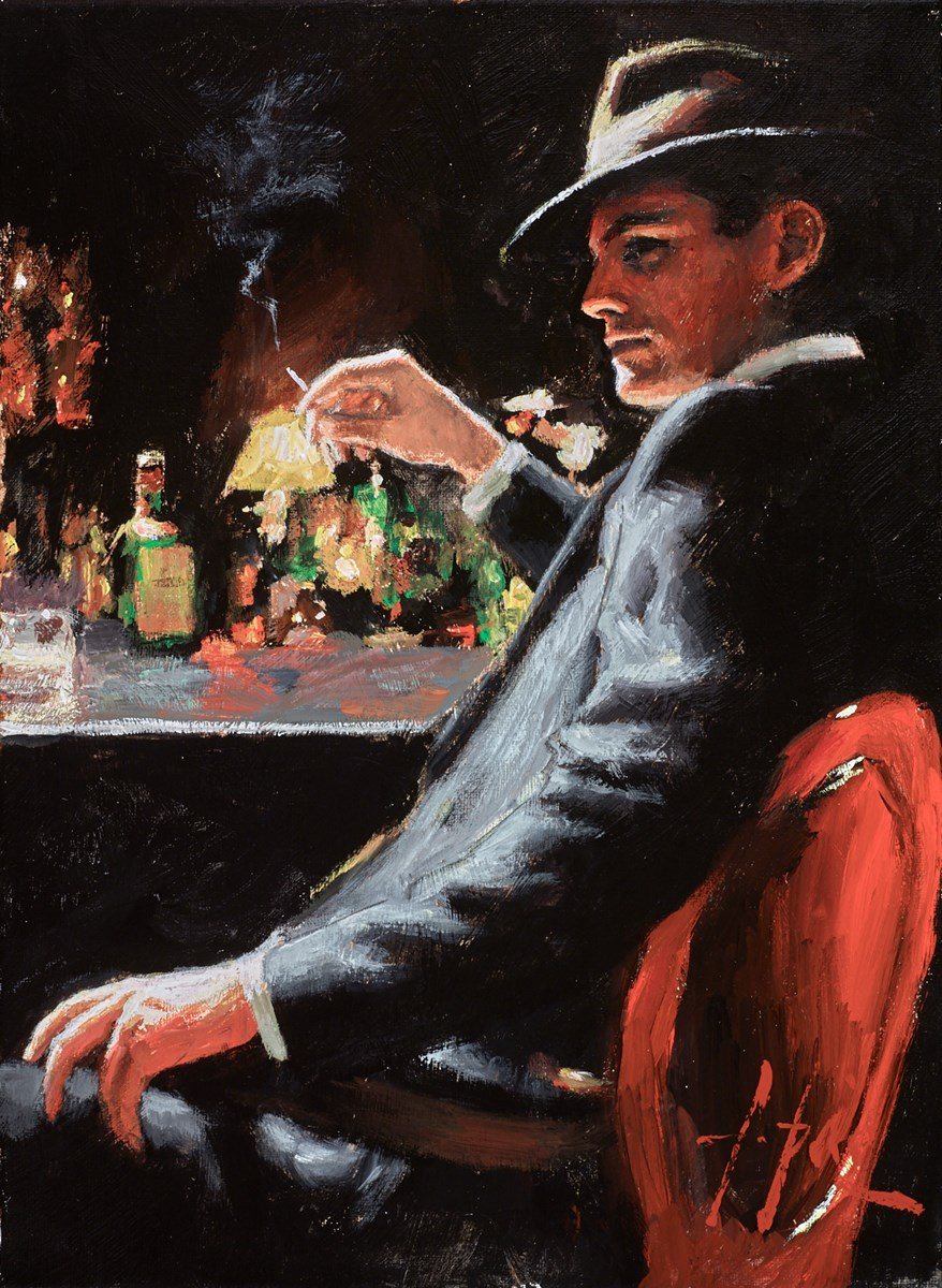 Whiskey at Las Brujas VII (Cigarette) by fabian perez -  sized 12x16 inches. Available from Whitewall Galleries